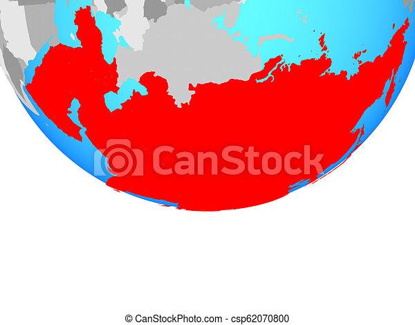 Asia on globe - csp62070800