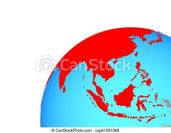 Asia on globe - csp61591068