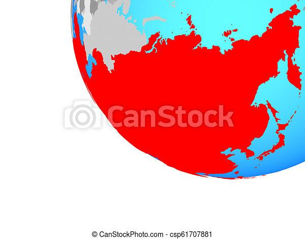 Asia on globe - csp61707881