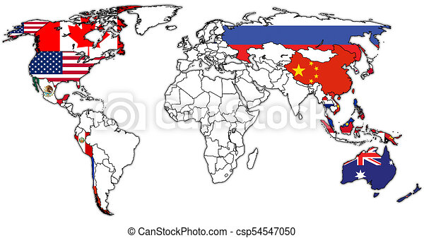 Asia pacific economic cooperation territory on world map stock asia pacific economic cooperation territory on world map csp54547050 gumiabroncs Gallery