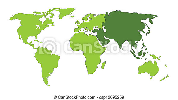 Asia world map clipart vector search illustration drawings and asia world map csp12695259 gumiabroncs Images