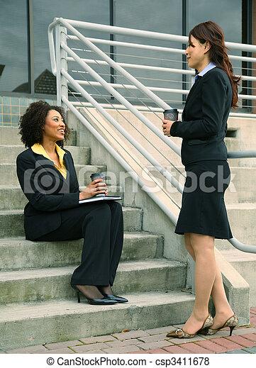 Asian And African American Businesswomen - csp3411678