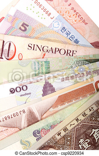 Asian banknotes - csp9220934