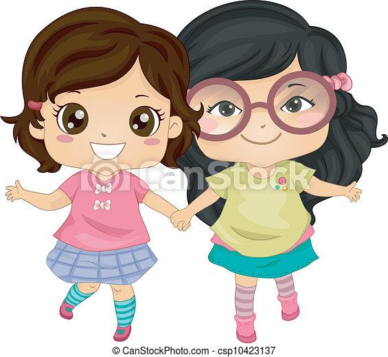 Asian Bestfriends - csp10423137