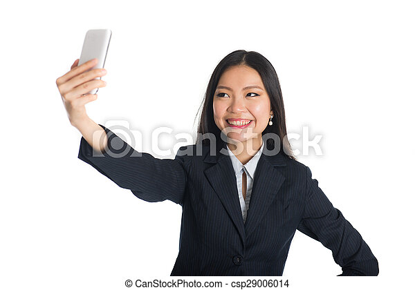 asian business woman selfie - csp29006014