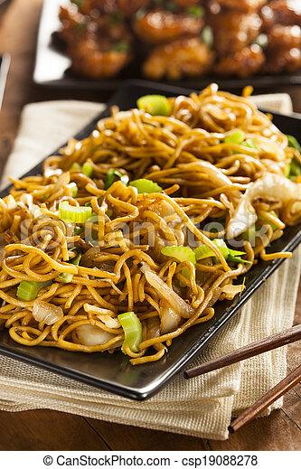 Asian Chow Mein Noodles - csp19088278
