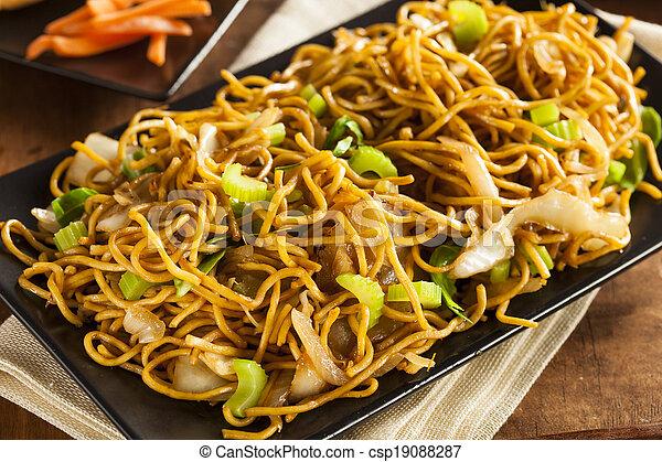 Asian Chow Mein Noodles - csp19088287