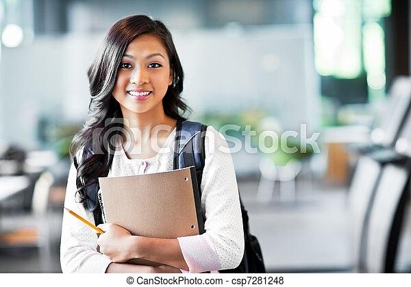 Asian college student - csp7281248