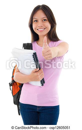 Asian college student - csp12605051
