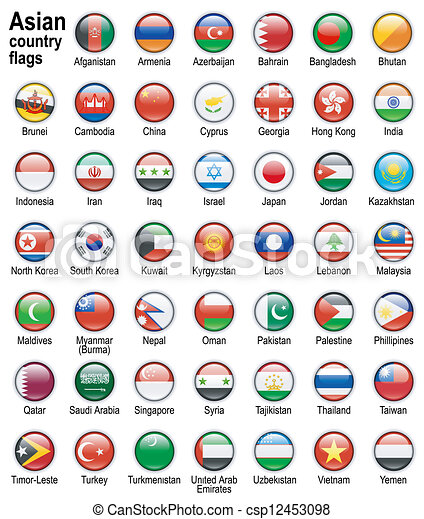 asian country flags - csp12453098