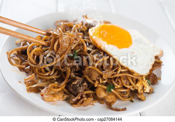 Asian dish Char Kuey Teow - csp27084144