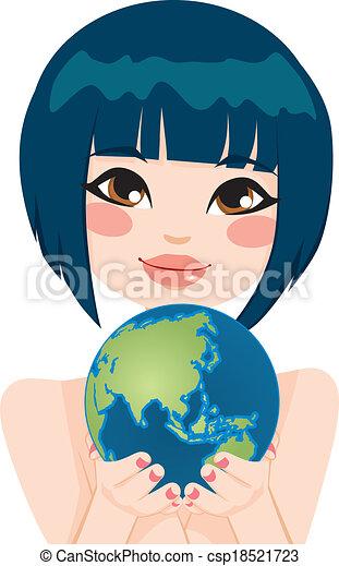 Asian Earth Woman - csp18521723