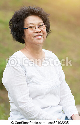 Asian Elderly Woman Csp