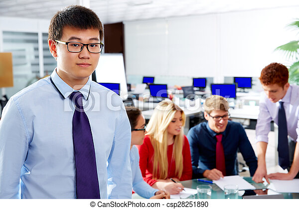 Asian executive young businessman portrait - csp28251890