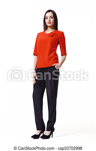 b347c30058 Asian fashion model girl in official clothes. Asian woman with ...