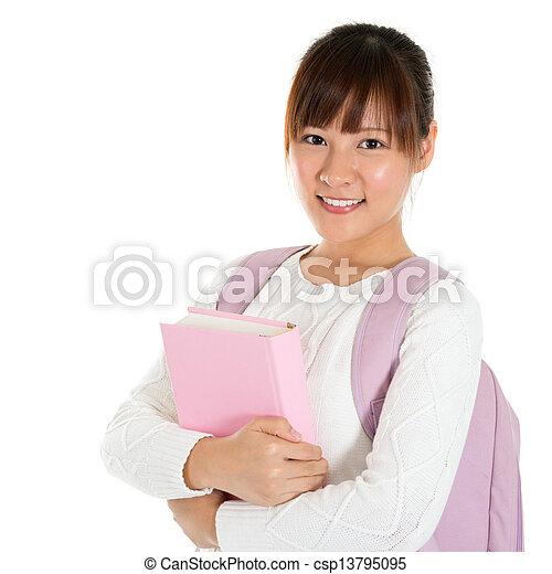 Asian female student - csp13795095