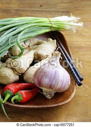 Asian food ingredients - csp16077251
