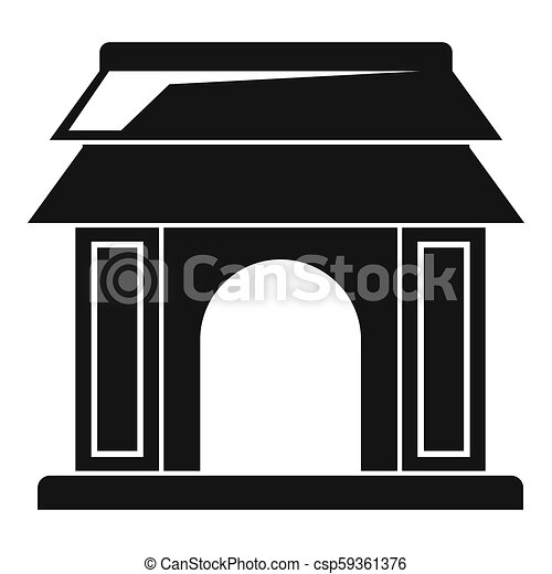 Asian Gate Icon Simple Style Asian Gate Icon Simple Illustration Of Asian Gate Icon For Web Design Isolated On White