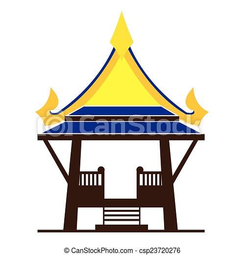 Asian gazebo - csp23720276
