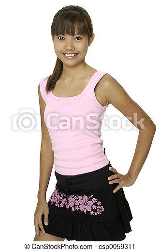 Asian Girl 2 - csp0059311