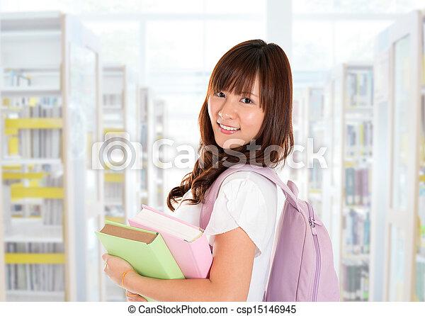 Asian girl student - csp15146945