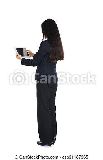 Asian woman back
