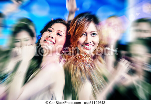 Asian girls partying