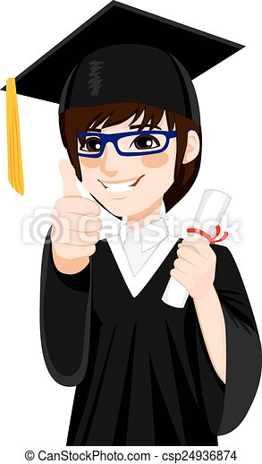 Asian Graduation Boy - csp24936874