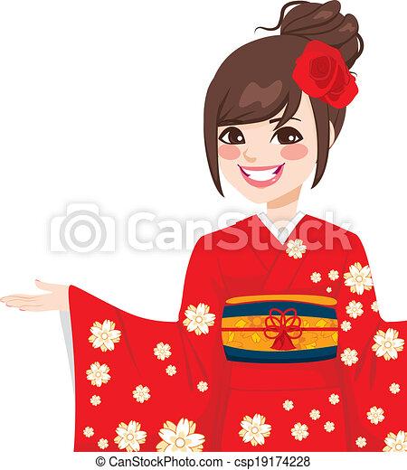 Asian Japanese Woman - csp19174228