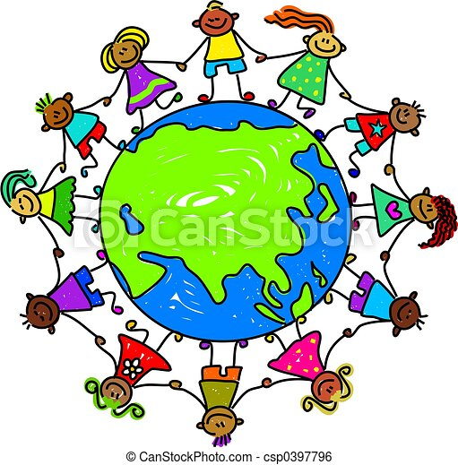 asian kids around the world toddler art series stock illustration rh canstockphoto com