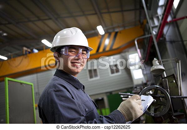 asian male industrial mechanic - csp12262625