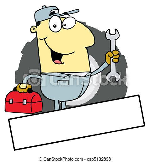 Asian Mechanic Logo - csp5132838