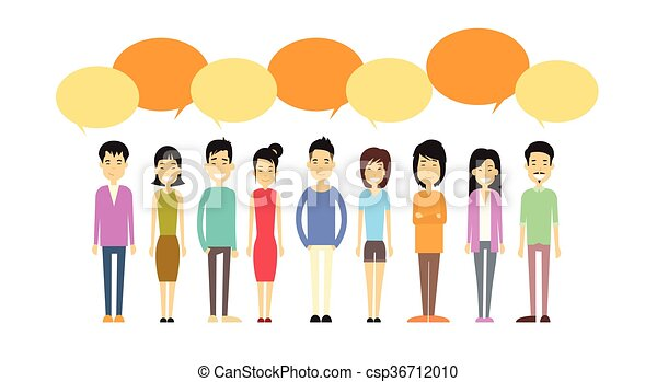 asian people group casual crowd with chat bubble social vector rh canstockphoto com crown clip art free crown clipart png