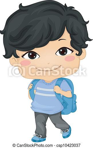 Asian Schoolboy - csp10423037