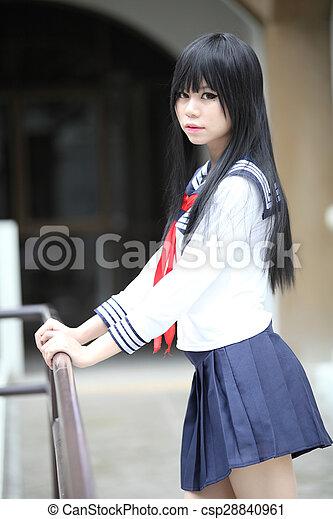 Asian Schoolgirl Csp28840961