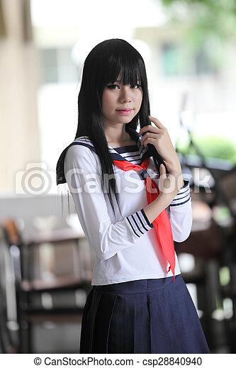 Asian Schoolgirl Csp28840940