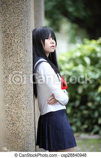 Asian Schoolgirl Csp28840948