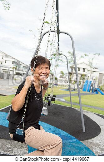 Asian senior citizen - csp14419667