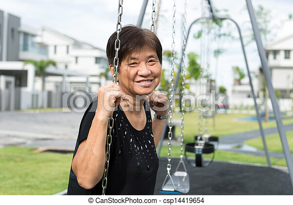 Asian senior citizen - csp14419654