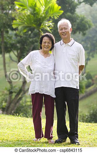 asian senior citizen - csp6843115