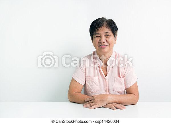 Asian senior citizen - csp14420034
