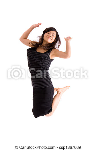 Asian Teenager In Black Skirt Isolated Csp1367689