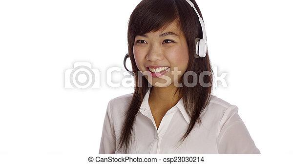 Asian telemarketer - csp23030214