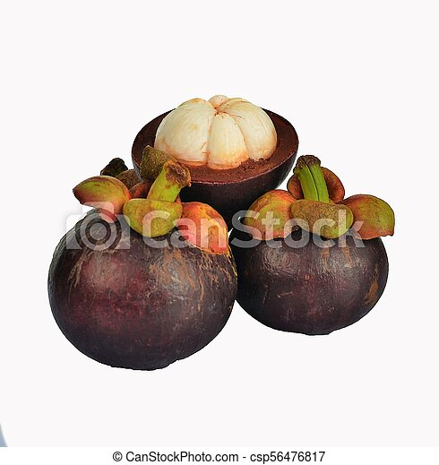 asian tropical mangosteen fruit - csp56476817