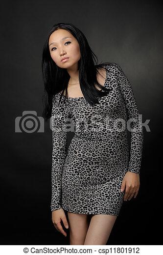 Asian woman in dress - csp11801912