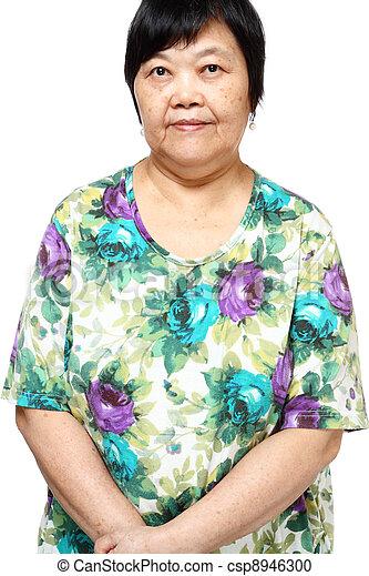 asian woman on white background - csp8946300