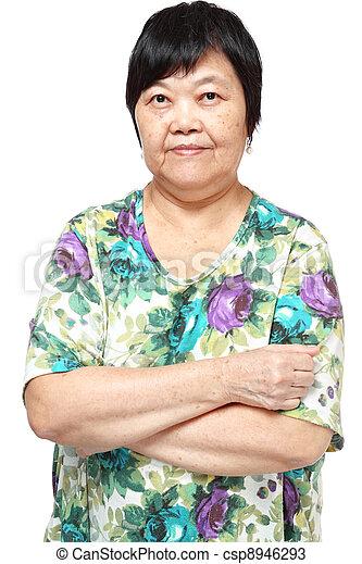 asian woman on white background - csp8946293