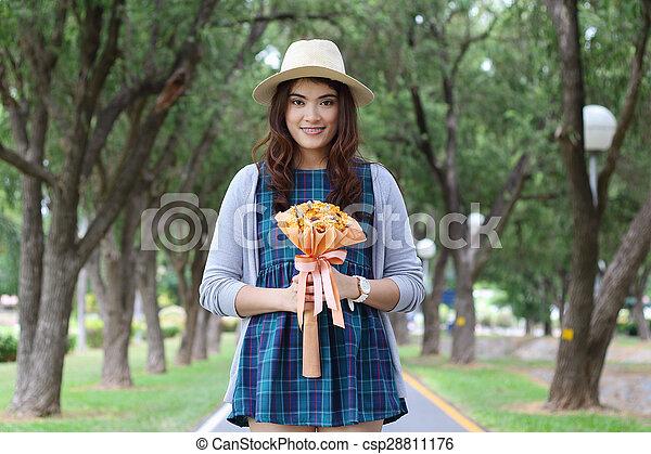 Asian woman - csp28811176