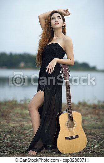 Asian Woman Portrait photography - csp32863711