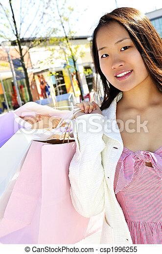 Asian woman shopping - csp1996255